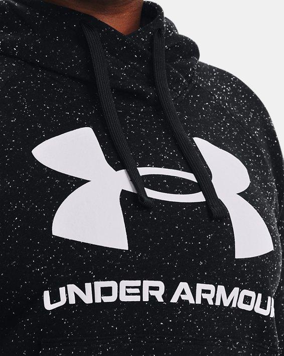 Women's UA Rival Fleece Logo Hoodie, Black, pdpMainDesktop image number 3