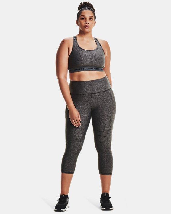 Women's HeatGear® Armour No-Slip Waistband Capris, Gray, pdpMainDesktop image number 0