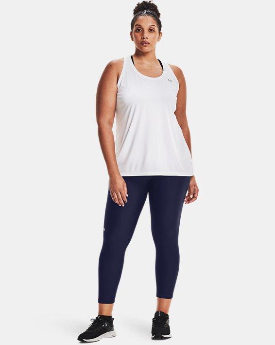 Women's HeatGear® Armour No-Slip Waistband Ankle Leggings, Navy, pdpMainDesktop image number 0