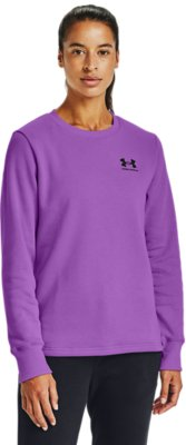 Under Armour Rival Fleece LC Graphic Womens Training Hoody Purple