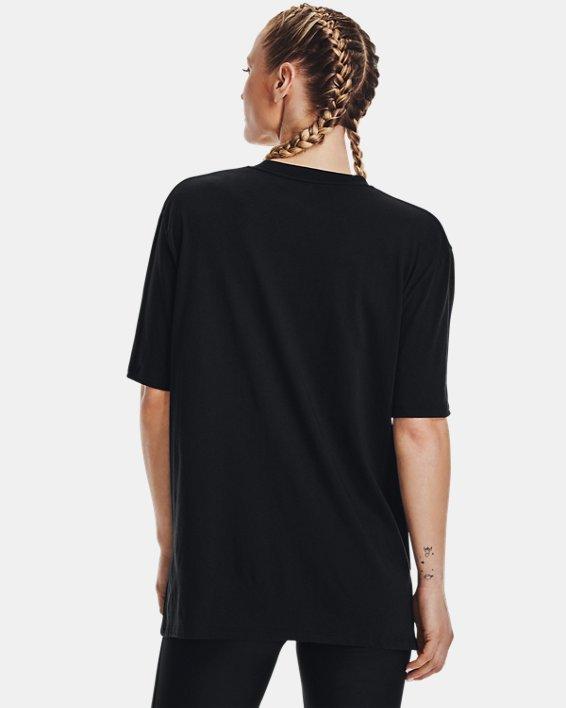 Women's UA Graphic Oversized Short Sleeve, Black, pdpMainDesktop image number 2