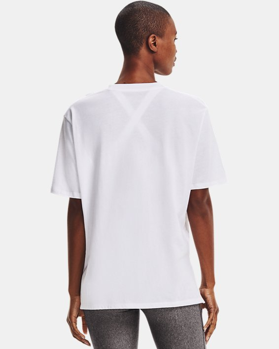 Women's UA Graphic Oversized Short Sleeve, White, pdpMainDesktop image number 2