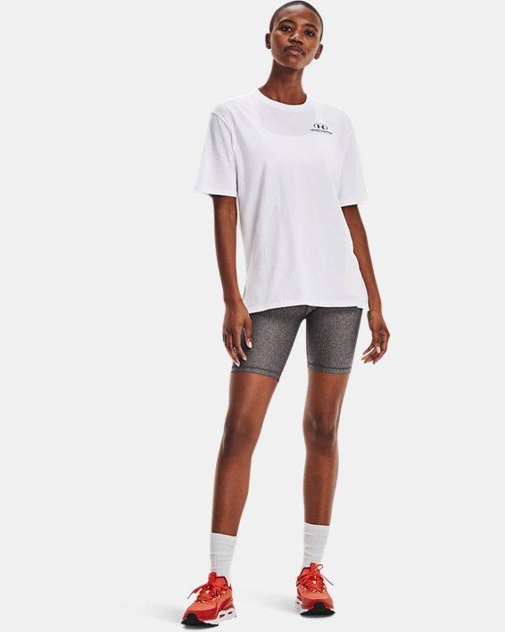 Women's UA Graphic Oversized Short Sleeve, White, pdpMainDesktop image number 0
