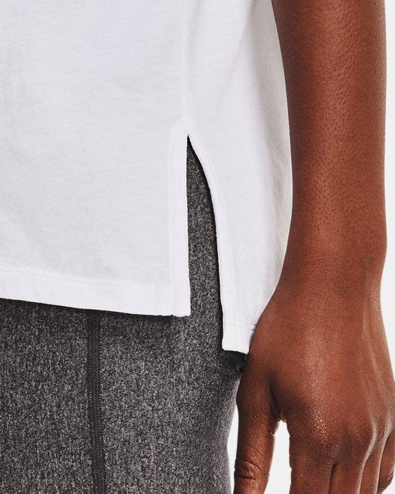 Women's UA Graphic Oversized Short Sleeve, White, pdpMainDesktop image number 3