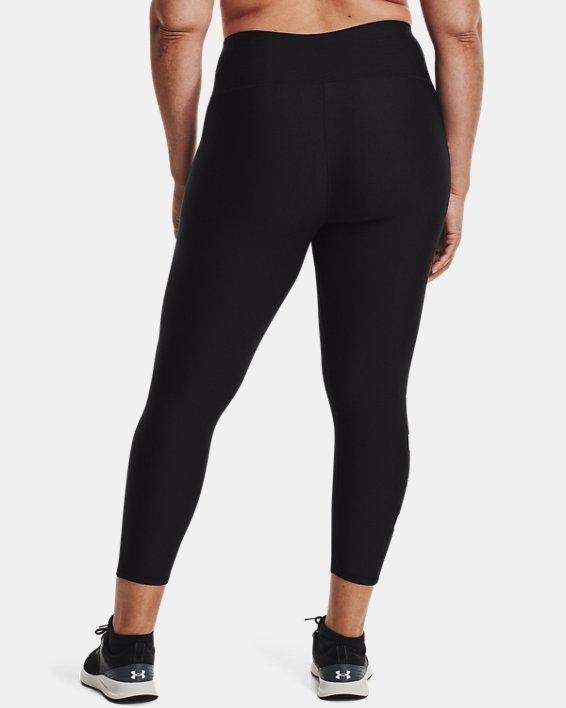 Leggings HeatGear® Armour No-Slip Waistband Graphic Ankle para mujer, Black, pdpMainDesktop image number 2