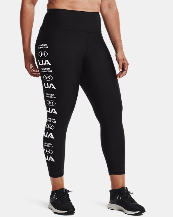 Leggings HeatGear® Armour No-Slip Waistband Graphic Ankle para mujer, Black, pdpMainDesktop image number 1