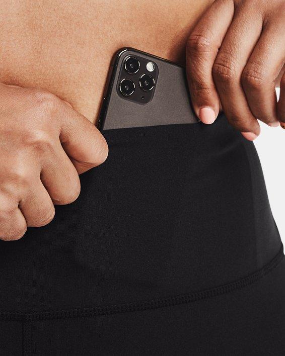 Leggings HeatGear® Armour No-Slip Waistband Graphic Ankle para mujer, Black, pdpMainDesktop image number 5