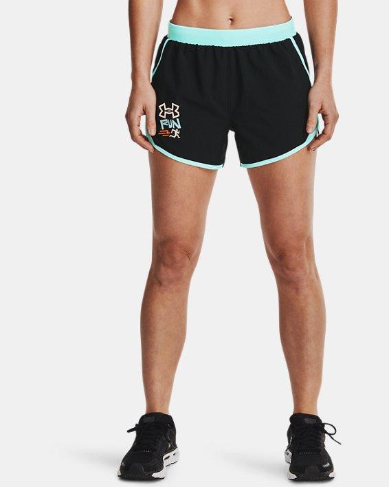 Women's UA Fly-By 2.0 GRD Shorts, Black, pdpMainDesktop image number 1