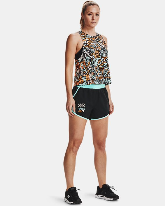 Women's UA Fly-By 2.0 GRD Shorts, Black, pdpMainDesktop image number 0