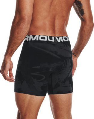 Under Armour Charged Cotton 6-inch Novelty Boxerjocks 3-Pack 3X-Large Black //Brilliant Blue 003