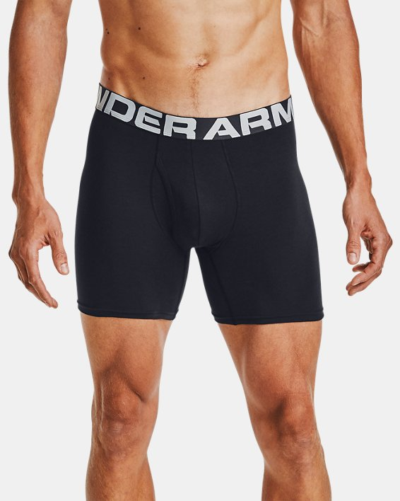 "Men's Charged Cotton® 6"" Boxerjock® – 3-Pack, Black, pdpMainDesktop image number 0"