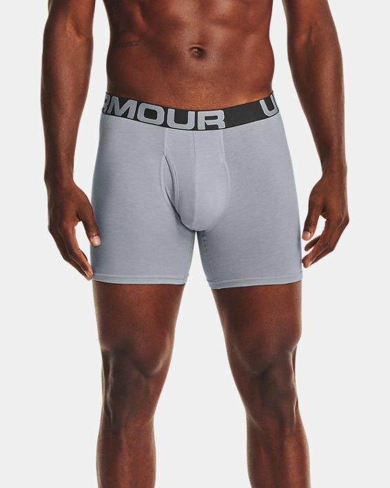 "Men's Charged Cotton® 6"" Boxerjock® – 3-Pack, Gray, pdpMainDesktop image number 0"
