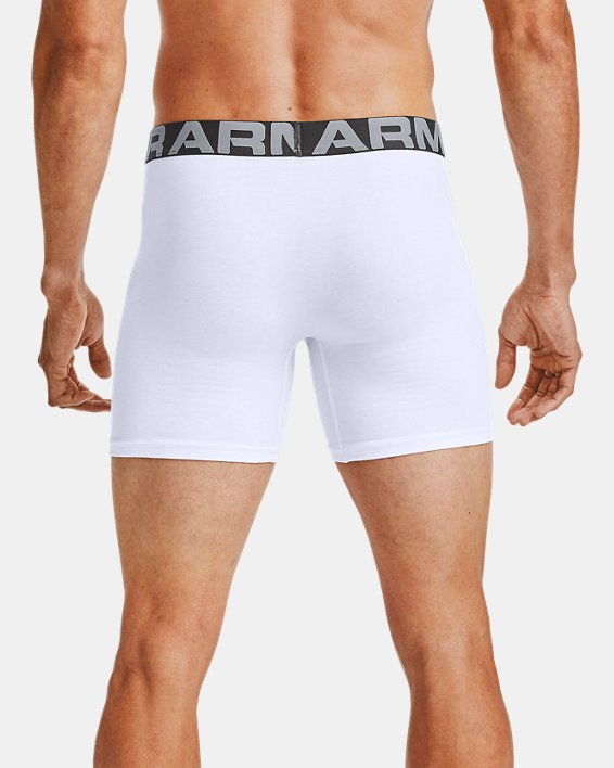 Herren Charged Cotton® Boxerjock® (15 cm)–3-er-Pack, White, pdpMainDesktop image number 1