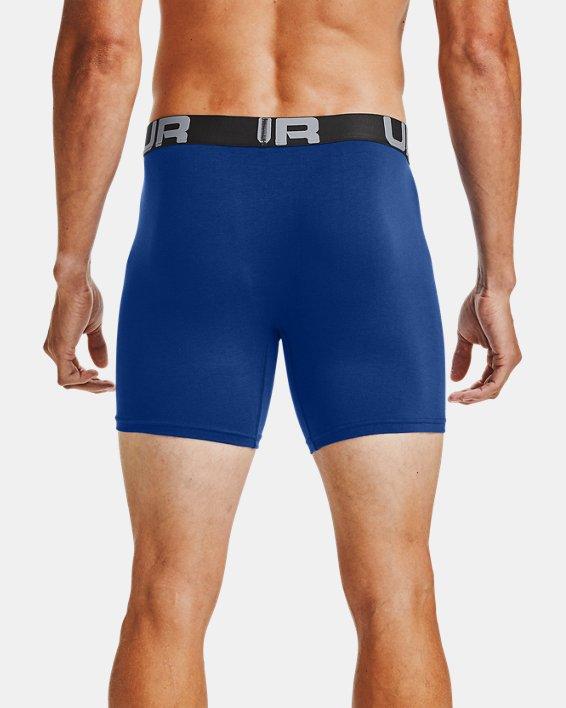 "Men's Charged Cotton® 6"" Boxerjock® – 3-Pack, Blue, pdpMainDesktop image number 1"