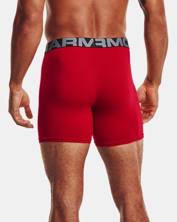 "Men's Charged Cotton® 6"" Boxerjock® – 3-Pack, Red, pdpMainDesktop image number 1"