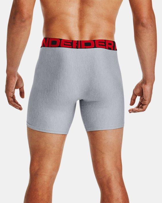 "Men's UA Tech™ 6"" Boxerjock® – 2-Pack, Gray, pdpMainDesktop image number 1"