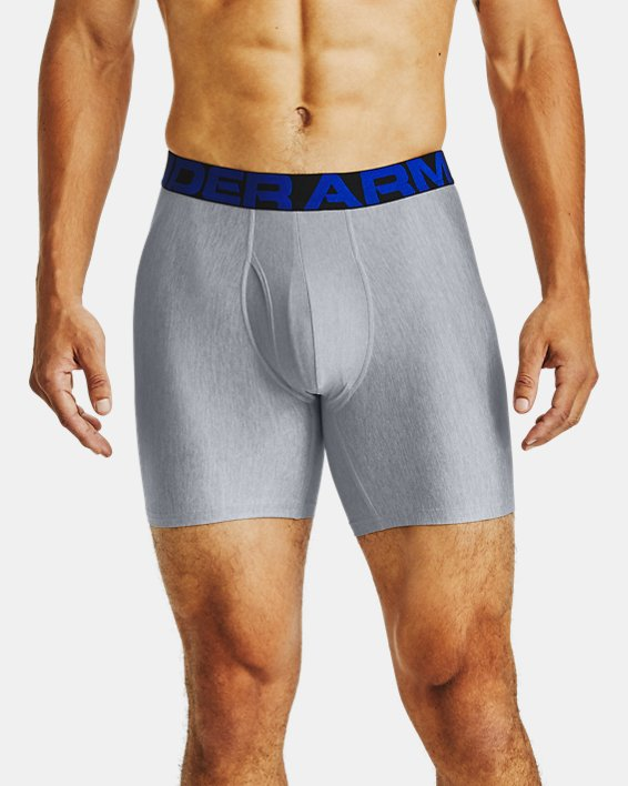 "Men's UA Tech™ 6"" Boxerjock® – 2-Pack, Navy, pdpMainDesktop image number 0"