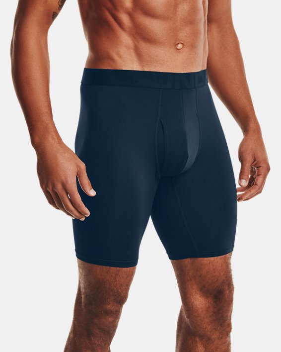"Men's UA Tech™ Mesh 9"" Boxerjock® – 2-Pack, Navy, pdpMainDesktop image number 0"