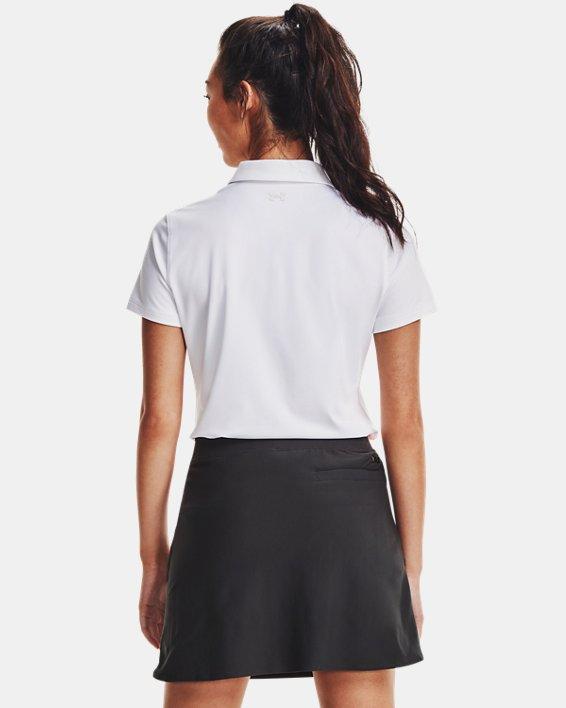 Women's UA Zinger Short Sleeve Polo, White, pdpMainDesktop image number 2