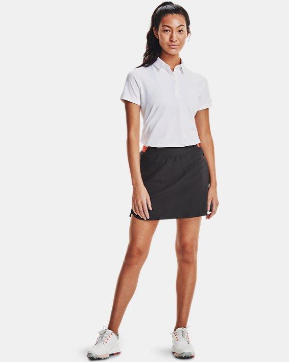 Women's UA Zinger Short Sleeve Polo, White, pdpMainDesktop image number 0