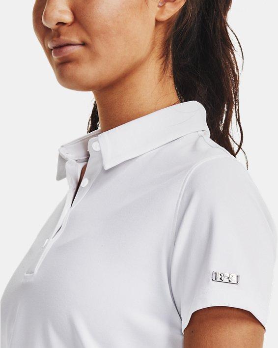 Women's UA Zinger Short Sleeve Polo, White, pdpMainDesktop image number 3