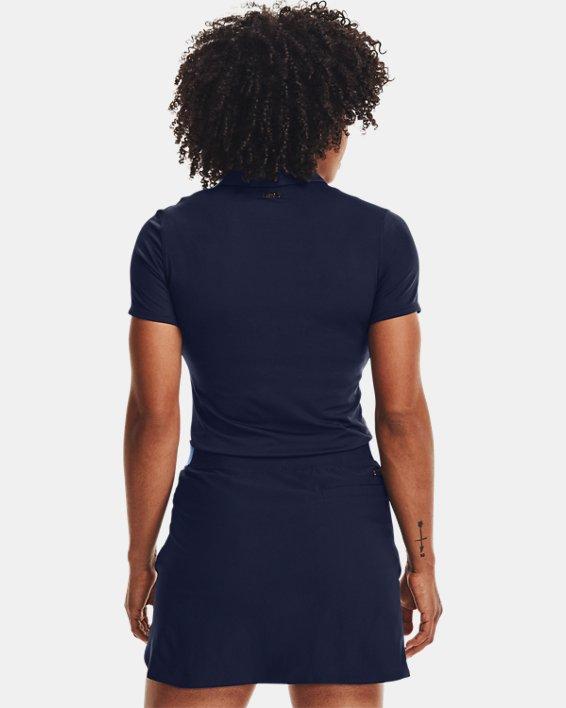 Women's UA Zinger Short Sleeve Polo, Navy, pdpMainDesktop image number 2