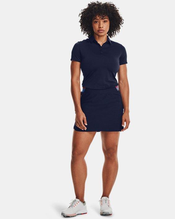 Women's UA Zinger Short Sleeve Polo, Navy, pdpMainDesktop image number 0