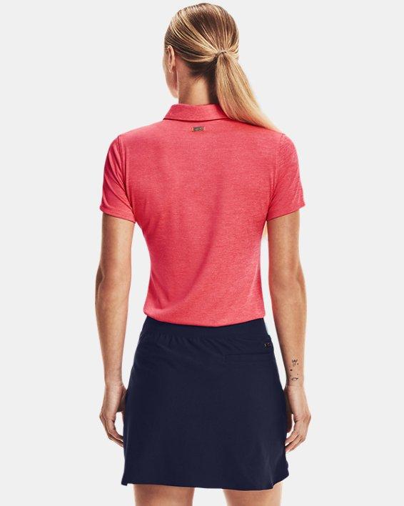 Women's UA Zinger Short Sleeve Polo, Pink, pdpMainDesktop image number 2