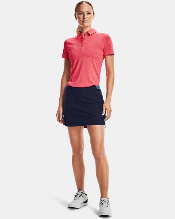 Women's UA Zinger Short Sleeve Polo, Pink, pdpMainDesktop image number 0