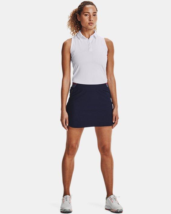 Women's UA Zinger Sleeveless Polo, White, pdpMainDesktop image number 0