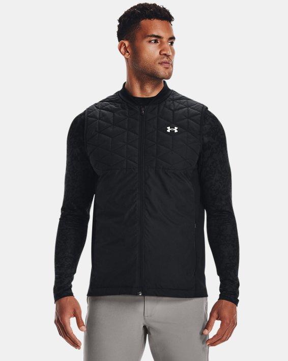 Men's ColdGear® Reactor Golf Vest, Black, pdpMainDesktop image number 0
