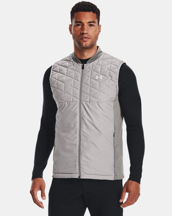 Men's ColdGear® Reactor Golf Vest, Gray, pdpMainDesktop image number 0