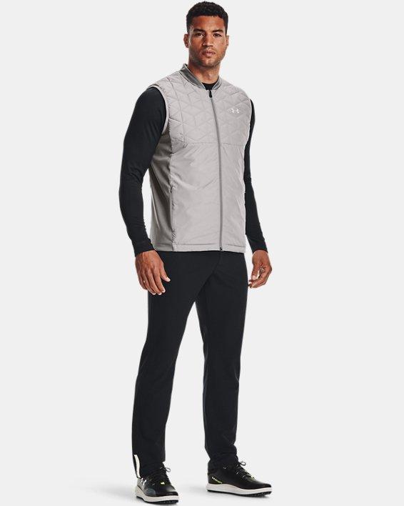 Men's ColdGear® Reactor Golf Vest, Gray, pdpMainDesktop image number 2