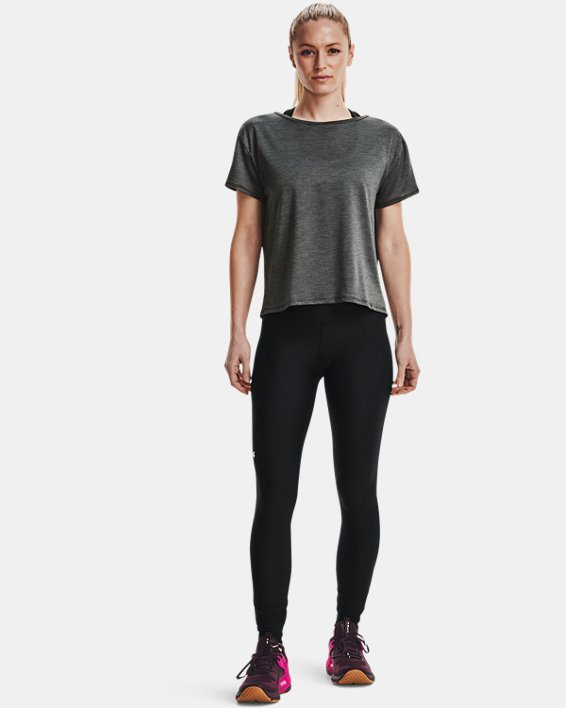 Women's UA Tech™ Vent Short Sleeve, Black, pdpMainDesktop image number 2
