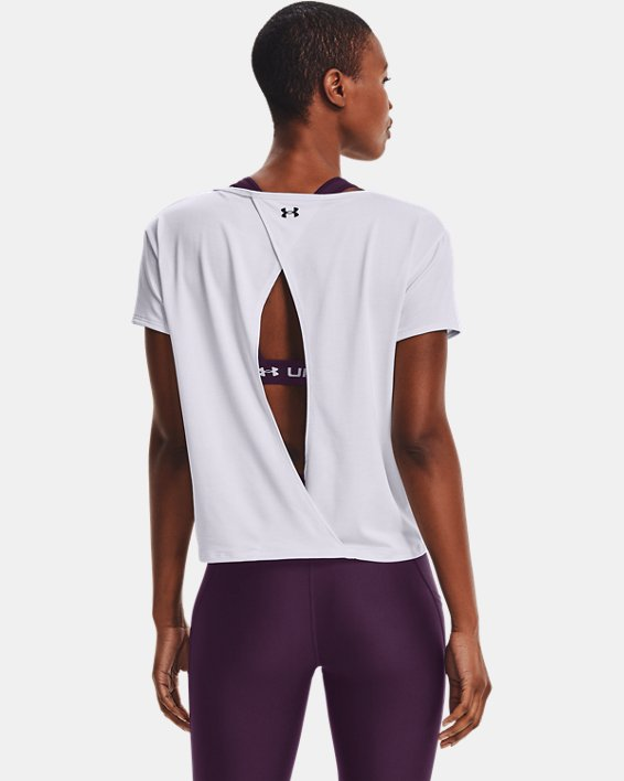 Women's UA Tech™ Vent Short Sleeve, White, pdpMainDesktop image number 0