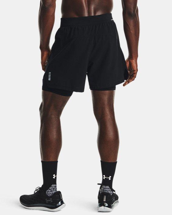 Men's UA Iso-Chill Run 2-in-1 Shorts, Black, pdpMainDesktop image number 2