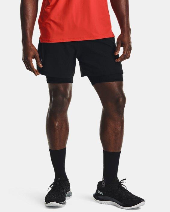 Men's UA Iso-Chill Run 2-in-1 Shorts, Black, pdpMainDesktop image number 1