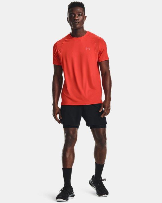Men's UA Iso-Chill Run 2-in-1 Shorts, Black, pdpMainDesktop image number 0