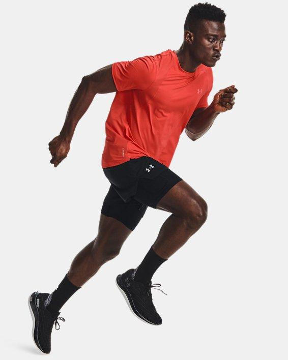 Men's UA Iso-Chill Run 2-in-1 Shorts, Black, pdpMainDesktop image number 6