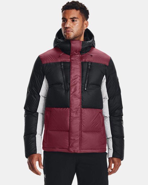 Men's ColdGear® Infrared Down Blocked Jacket, Red, pdpMainDesktop image number 0