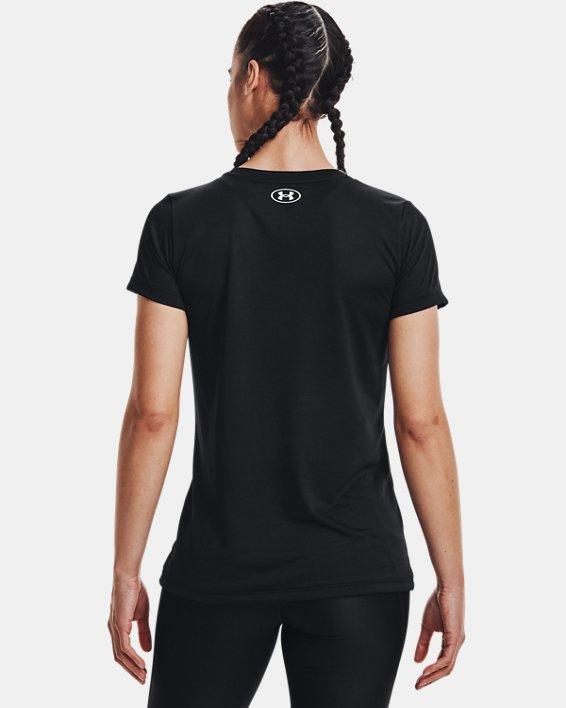 Women's UA Tech™ Graphic Short Sleeve, Black, pdpMainDesktop image number 1