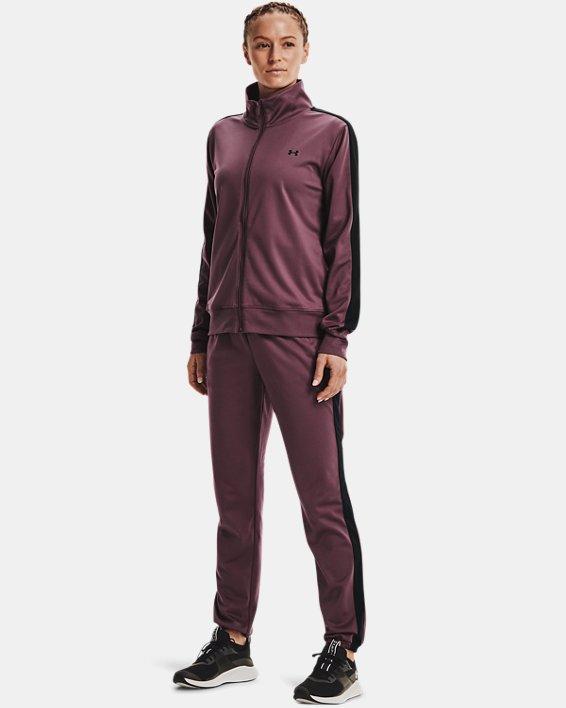 Women's UA Tricot Tracksuit, Purple, pdpMainDesktop image number 0