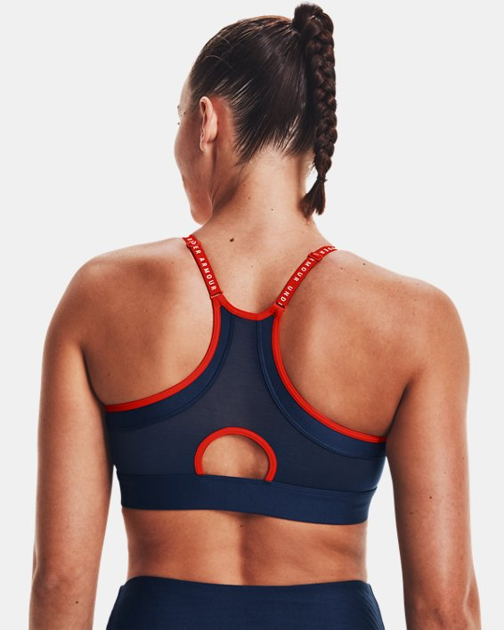 Women's UA Infinity Low Sports Bra, Blue, pdpMainDesktop image number 5