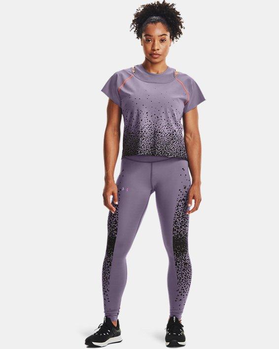Women's UA RUSH™ No-Slip Waistband Full-Length Leggings, Gray, pdpMainDesktop image number 2