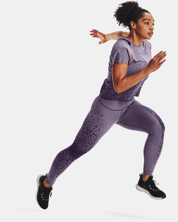 Women's UA RUSH™ No-Slip Waistband Full-Length Leggings, Gray, pdpMainDesktop image number 3
