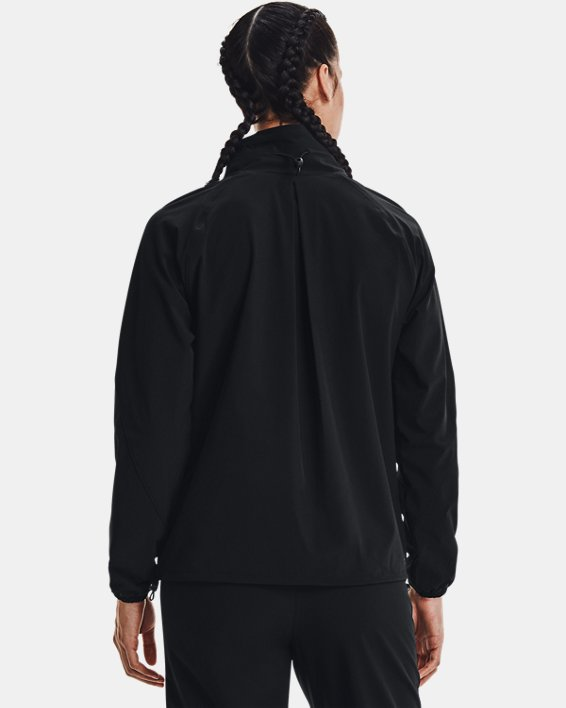 Women's UA RUSH™ Woven Jacket, Black, pdpMainDesktop image number 2