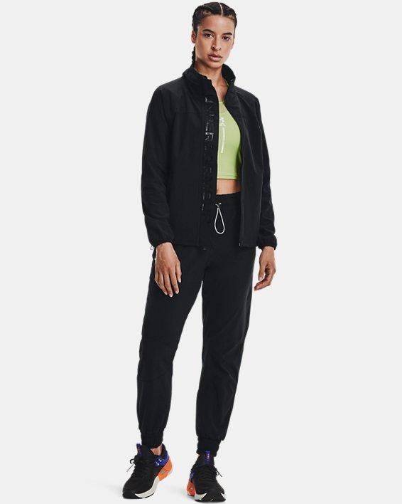 Women's UA RUSH™ Woven Jacket, Black, pdpMainDesktop image number 0
