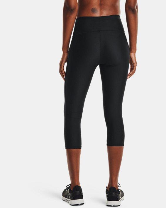 Women's HeatGear® Armour No-Slip Waistband Capris, Black, pdpMainDesktop image number 2