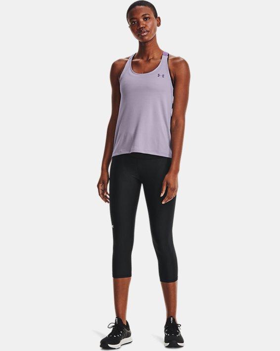 Women's HeatGear® Armour No-Slip Waistband Capris, Black, pdpMainDesktop image number 0