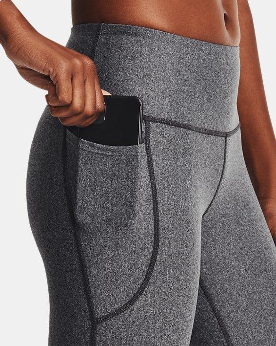 Women's HeatGear® Armour No-Slip Waistband Capris, Gray, pdpMainDesktop image number 3